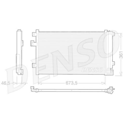 Kondensator, Klimaanlage DENSO DCN09084 FIAT