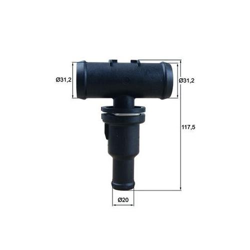 Thermostat, coolant MAHLE TH 53 75 AUDI VAG CUPRA