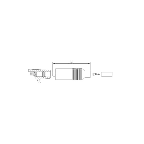 Stecker, Zündspule BREMI 10223/1 VOLVO VW