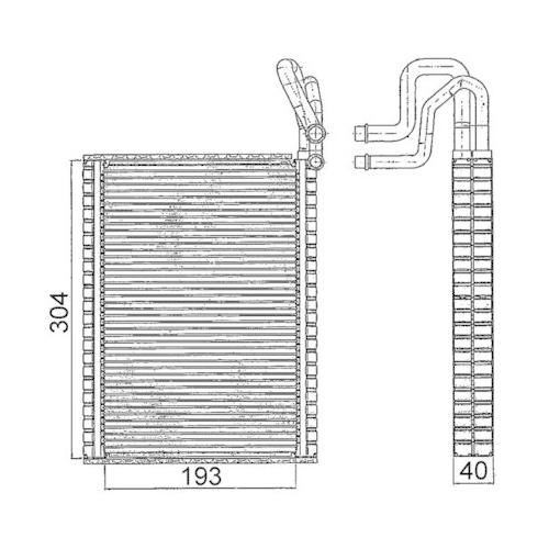 Evaporator, air conditioning MAHLE AE 116 000S BMW