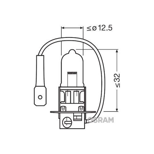 Glühlampe Glühbirne OSRAM H3 70W/24V Sockelausführung: PK22s (64156)