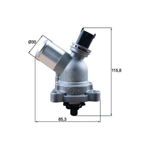 Thermostat, coolant MAHLE TM 43 105 GMC