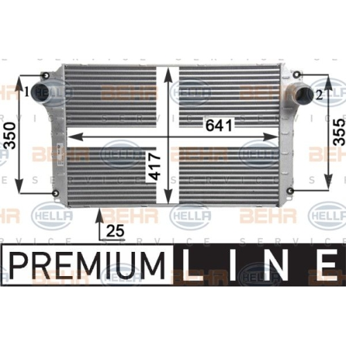 Intercooler, charger HELLA 8ML 376 910-091 TOYOTA