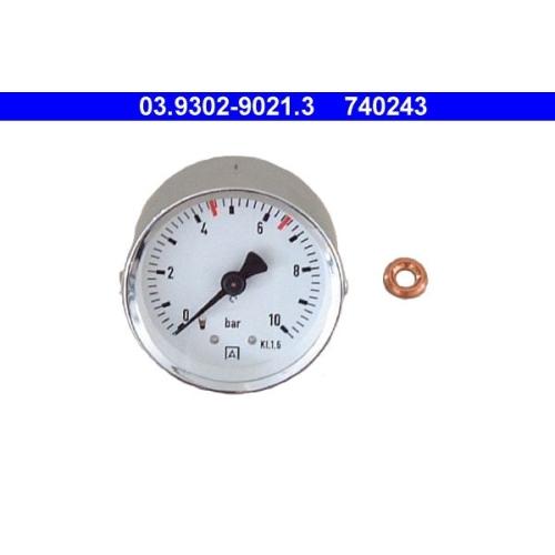 Manometer, Füll-/Entlüftungsgerät (Bremshydraulik) ATE 03.9302-9021.3
