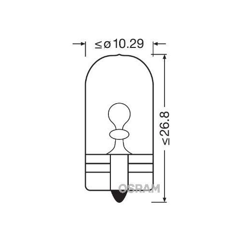 OSRAM incandescent lightbulb (2825) Socket Version: WV Bulb Type: W5W