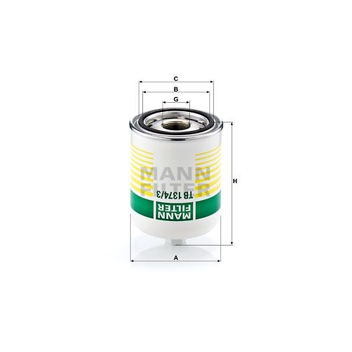 Air Dryer Cartridge, compressed-air system MANN-FILTER TB 1374/3 x SCANIA