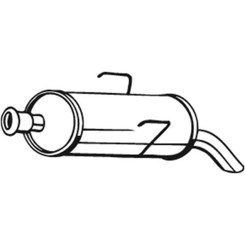 Endschalldämpfer BOSAL 190-115 CITROËN PEUGEOT