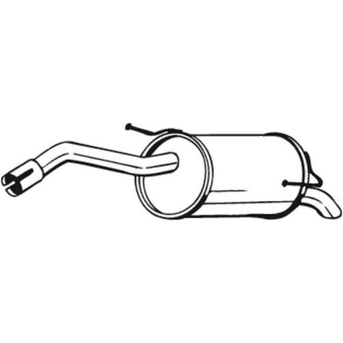 BOSAL Endschalldämpfer 145-125
