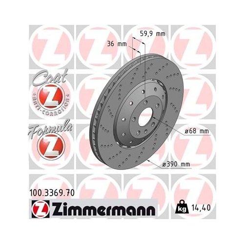 ZIMMERMANN Brake Disc 100.3369.70