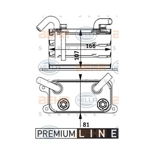 Ölkühler, Motoröl HELLA 8MO 376 729-631 BEHR HELLA SERVICE *** PREMIUM LINE ***