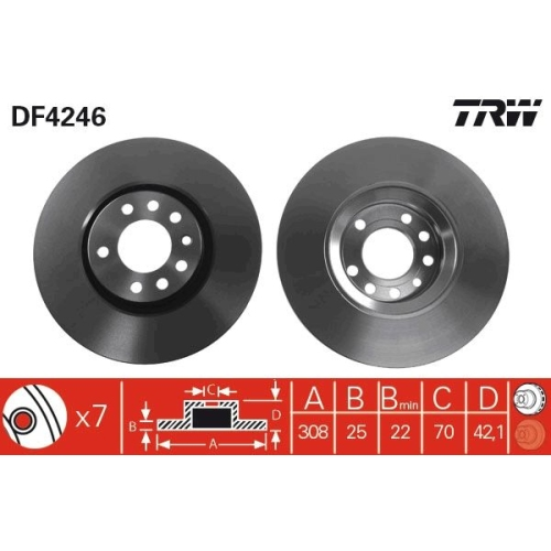 TRW Brake Disc DF4246