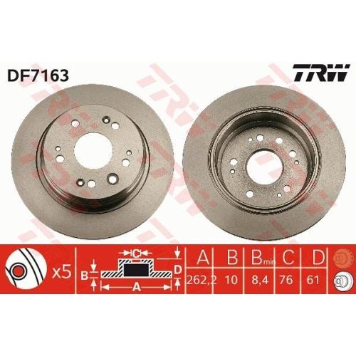 TRW Brake Disc DF7163