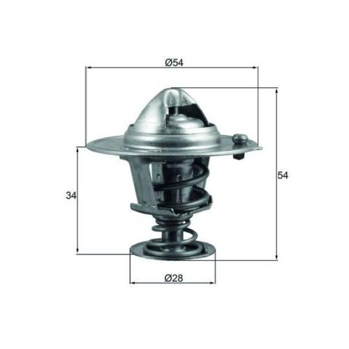 Thermostat, coolant MAHLE TX 206 88D HYUNDAI KIA
