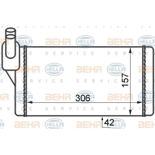 Wärmetauscher, Innenraumheizung HELLA 8FH 351 024-401 VW