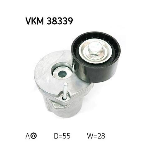 Spannrolle, Keilrippenriemen SKF VKM 38339 BMW