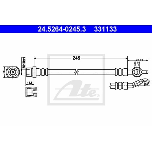 ATE Bremsschlauch 24.5264-0245.3