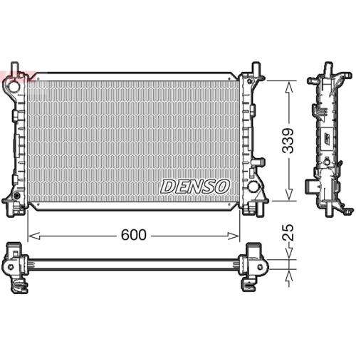 Kühler, Motorkühlung DENSO DRM10003 FORD