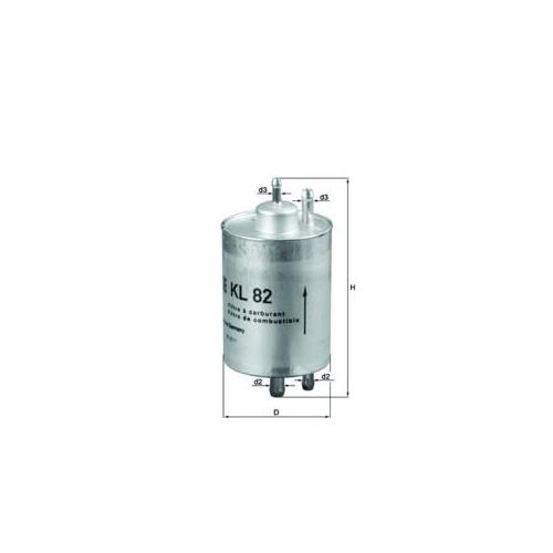 Fuel filter MAHLE KL 82 CHRYSLER MERCEDES-BENZ KAYSER