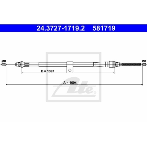 ATE Cable, parking brake 24.3727-1719.2