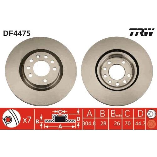 TRW Brake Disc DF4475