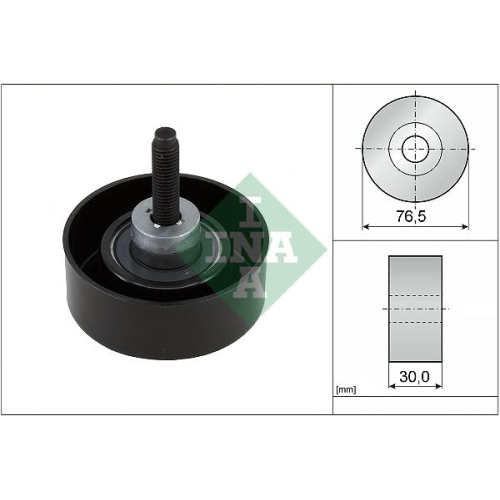 Deflection/Guide Pulley, v-ribbed belt INA 532 0458 10 FORD