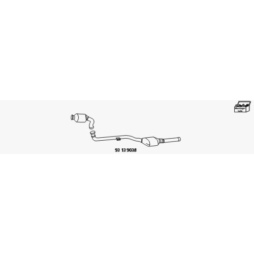 Nachrüstsatz, Katalysator/Rußpartikelfilter (Kombisystem) HJS 93 13 9038