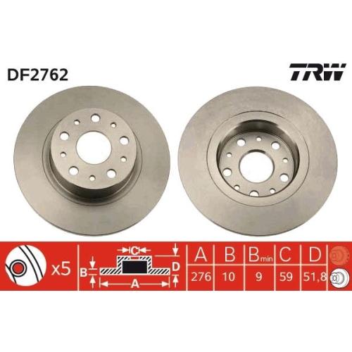 TRW Brake Disc DF2762