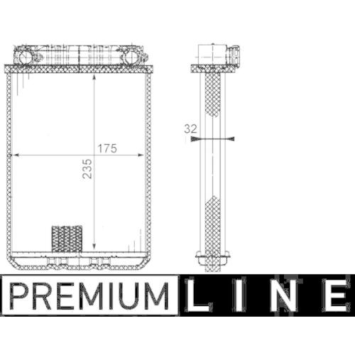 Heat Exchanger, interior heating MAHLE AH 77 000P BEHR *** PREMIUM LINE ***