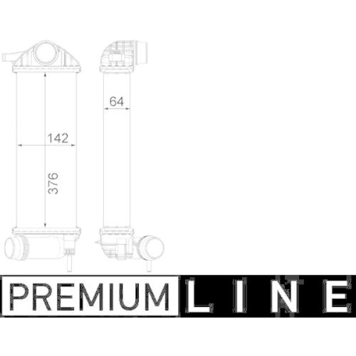 Ladeluftkühler MAHLE CI 477 000P BEHR *** PREMIUM LINE *** RENAULT