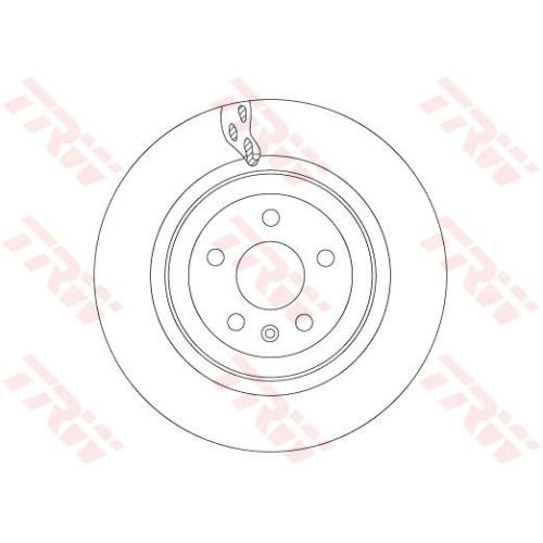 Brake Disc TRW DF6702S TESLA