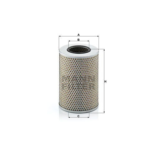 Filter, Arbeitshydraulik MANN-FILTER H 1290/1 HANOMAG HENSCHEL IVECO FAUN O & K
