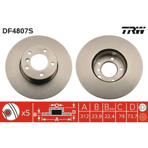 TRW Brake Disc DF4807S