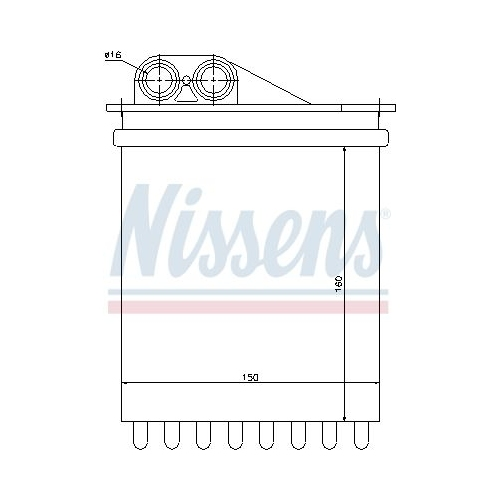 Heat Exchanger, interior heating NISSENS 72040 DODGE MERCEDES-BENZ