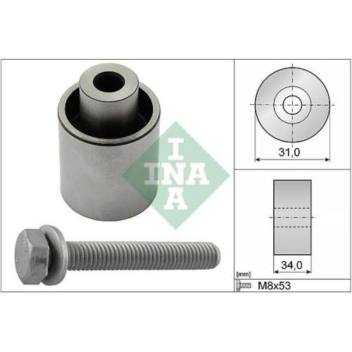 Deflection/Guide Pulley, timing belt INA 532 0833 10 SUBARU