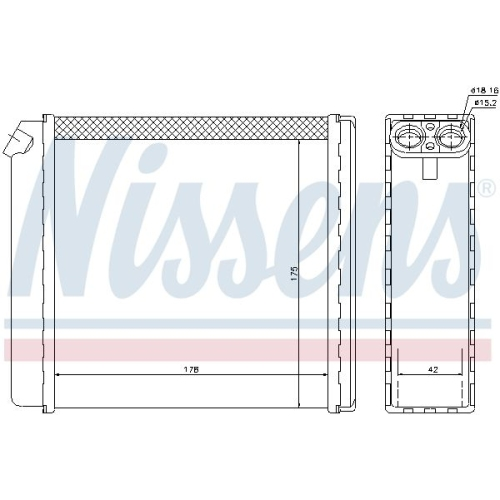 Wärmetauscher, Innenraumheizung NISSENS 72636 OPEL