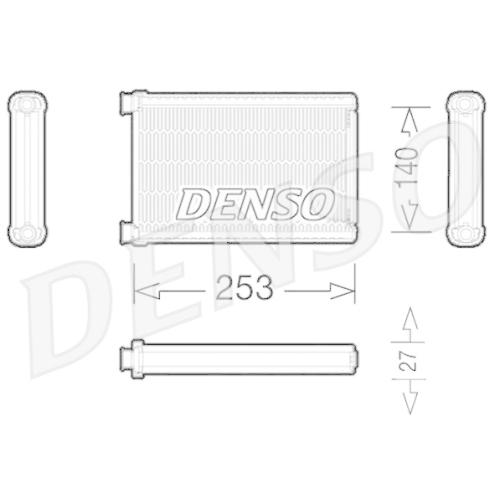 DENSO Heat Exchanger, interior heating DRR05005