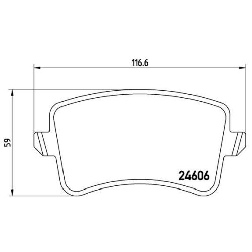 Bremsbelagsatz, Scheibenbremse BREMBO P 85 099 AUDI SEAT SKODA VW