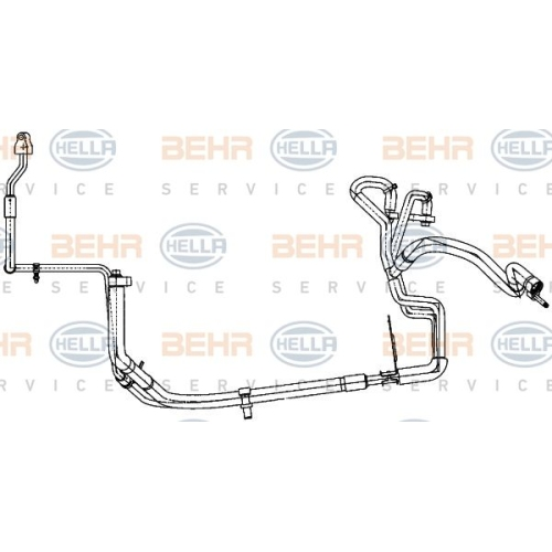 High-/Low Pressure Line, air conditioning HELLA 9GS 351 338-361 FORD
