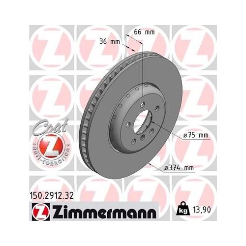 ZIMMERMANN Brake Disc 150.2912.32