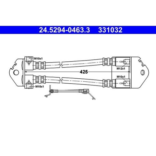 Brake Hose ATE 24.5294-0463.3 FORD