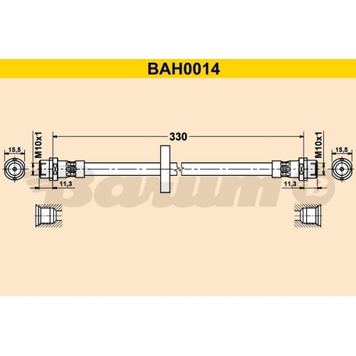 BARUM Bremsschlauch BAH0014
