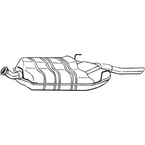 Endschalldämpfer BOSAL 215-829 SAAB