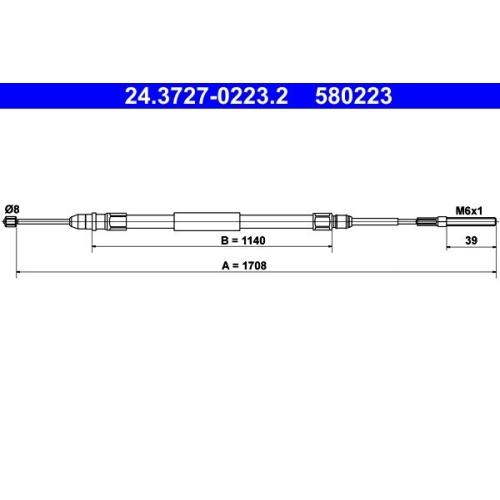 Seilzug, Feststellbremse ATE 24.3727-0223.2 BMW