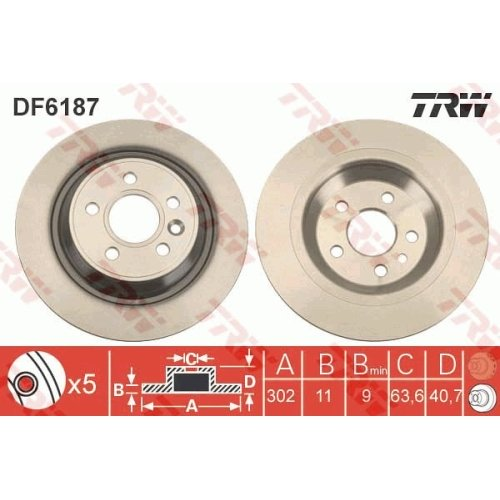 Brake Disc TRW DF6187 VOLVO
