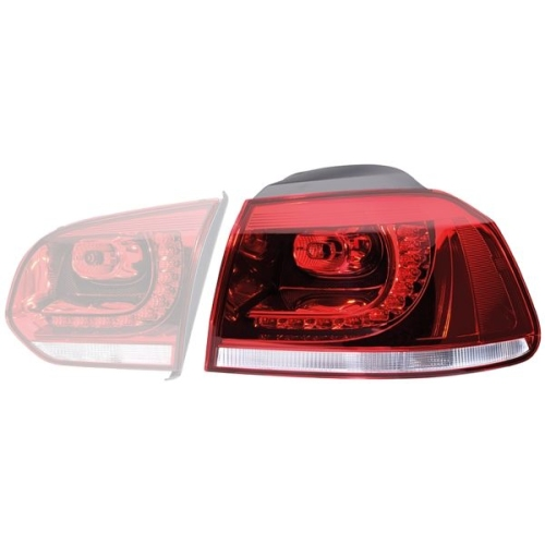 Combination Rearlight HELLA 2SD 010 970-041 VW