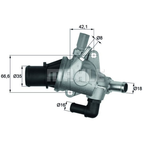 Thermostat, coolant BEHR TI 154 88