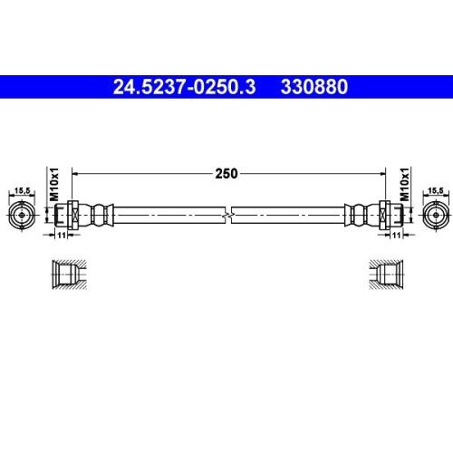 Brake Hose ATE 24.5237-0250.3 VAG