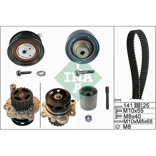 Water Pump & Timing Belt Set INA 530 0361 31 AUDI SEAT SKODA VW