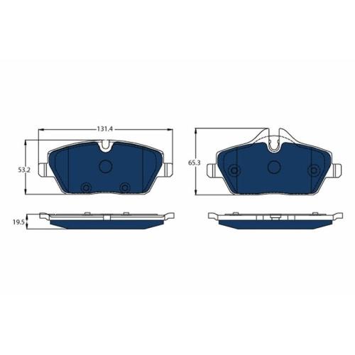 Brake Pad Set, disc brake TRW GDB2038BTE ELECTRIC BLUE BMW