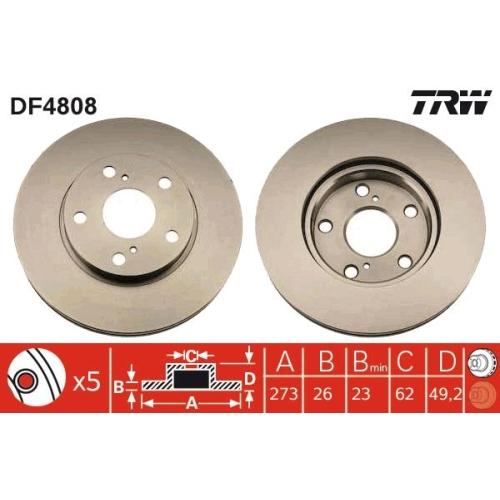 TRW Brake Disc DF4808